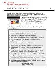 Sicherheits-Hinweise Kreditkarte - Sparkasse