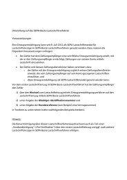 Musteranschreiben Verfahrenswechsel - Sparkasse