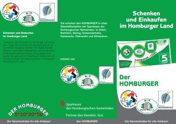 Flyer Homburger - Sparkasse der Homburgischen Gemeinden