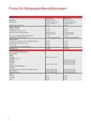 Preise für Wertpapierdienstleistungen - Sparkasse Zollernalb