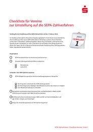 SEPA-Checkliste für Vereine - Sparkasse Zollernalb