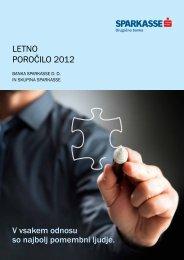 LETNO POROČILO 2012 - Banka Sparkasse
