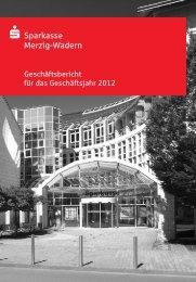 Geschäftsbericht 2012 - Sparkasse Merzig-Wadern