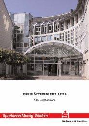 GESCHÄFTSBERICHT 2002 - Sparkasse Merzig-Wadern