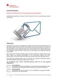 Kundeninformation Secure E-Mail - Sparkasse Merzig-Wadern