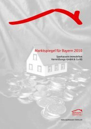 Marktspiegel für Bayern 2010 - Sparkassen Immobilien