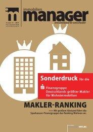 Sonderdruck Immobilienmanager - Sparkassen Immobilien Freiburg