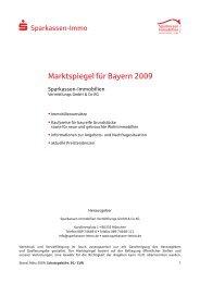 Marktspiegel für Bayern 2009 - Sparkassen Immobilien