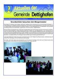 Grundschüler besuchen den Bürgermeister - Gemeinde Dettighofen