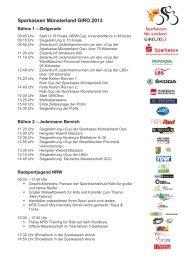 Übersicht Rahmenprogramm - Sparkassen Münsterland Giro