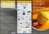 ATP-Tennisturnier 28. Juni - 6. Juli 2013 - Sparkassen Open