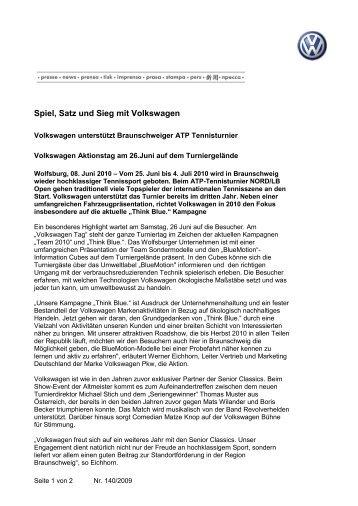 Spiel, Satz und Sieg mit Volkswagen - Sparkassen Open