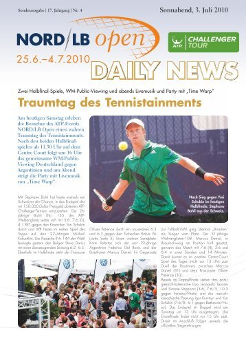 Traumtag des Tennistainments - Sparkassen Open