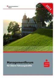 Managementforum Programm 2014 - Sparkassenakademie Bayern