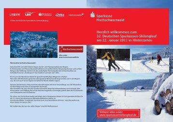 Ausschreibung - Deutscher Sparkassen-Skilanglauf