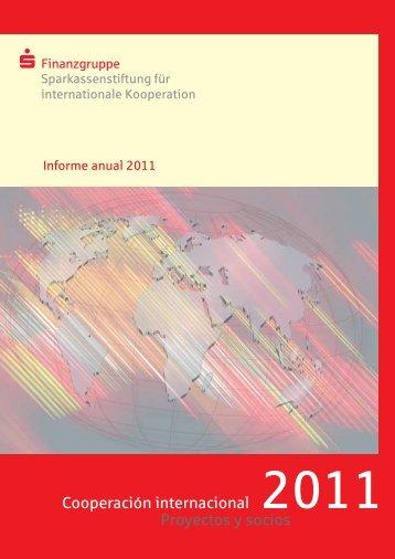 Cooperación internacional Proyectos y socios - Sparkassenstiftung
