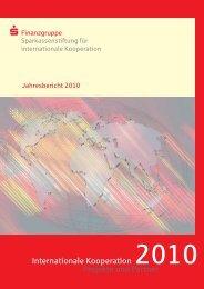 Jahresbericht 2010 - Sparkassenstiftung