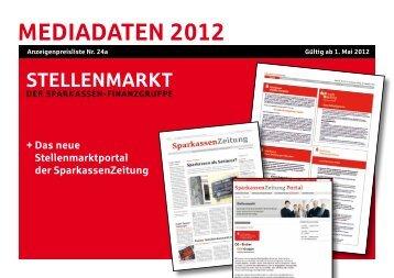 MEDIADATEN 2012 - Sparkassenzeitung