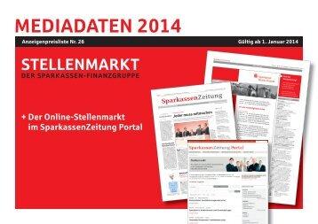 PDF Mediadaten SparkassenZeitung Stellenmarkt