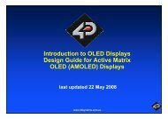Introduction to OLED Displays Design Guide for Active Matrix OLED ...