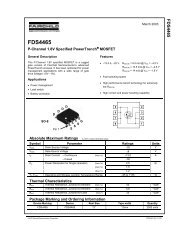 FDS4465 P-Channel 1.8V Specified PowerTrench® MOSFET - Pololu