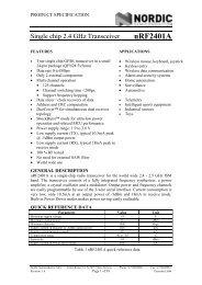 nRF2401A Datasheet