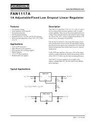 FAN1117A 1A Adjustable/Fixed Low Dropout Linear Regulator