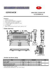 GDM1602K datasheet