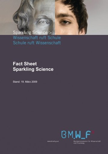 Fact Sheet Sparkling Science