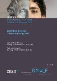 Ausschreibungstext - Sparkling Science