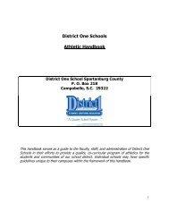 Athletic Handbook - Spartanburg County School District One