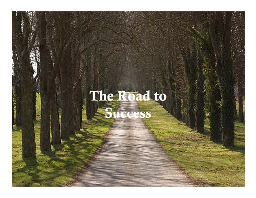 The Road to Success The Road to Success