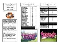 Chapman High School Girls' Soccer Senior Night May 4, 2011