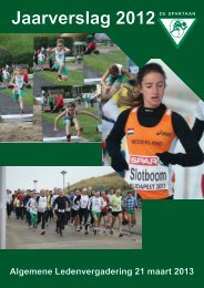 Jaarverslag 2012 - De Spartaan