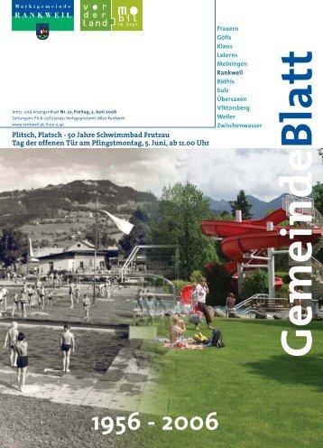 Plitsch, Platsch - 50 Jahre Schwimmbad Frutzau Tag der offenen T