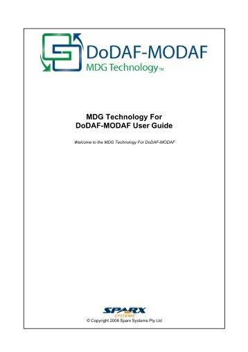 MDG Technology for DoDAF-MODAF User Guide - Enterprise Architect