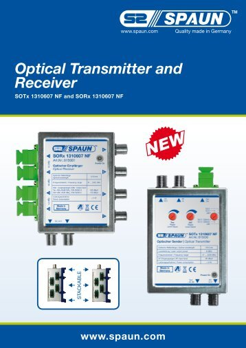 Optical Transmitter and Receiver - Spaun