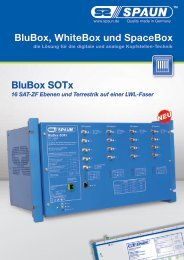 BluBox, WhiteBox und SpaceBox BluBox SOTx - Spaun