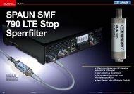 • Filtert zuverlässig von LTE Signalen provozierte Störungen • Sehr ...