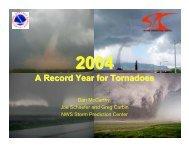 2004 Tornado Reports - Storm Prediction Center - NOAA