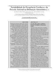 Variabilidade da Frequência Cardíaca e da Pressão Arterial na ...