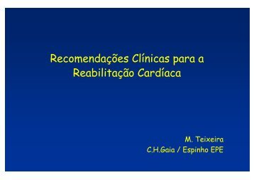 Recomendações Clínicas para a Reabilitação Cardíaca