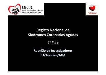 Registo Nacional de Síndromes Coronárias Agudas - Sociedade ...