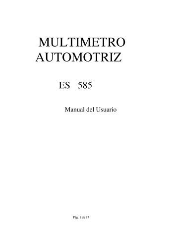 MULTIMETRO AUTOMOTRIZ - Spc960.com