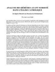 Analyse des Hérésies Ayant Subsisté dans l'Eglise Catholique Un ...