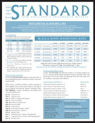black & white advertising rates - Standard Publishing Corporation