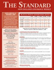 New eNglaNd's INsuraNce weekly THE STANDARD