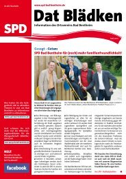 SPD Bad Bentheim für - SPD-Ortsverein Bad Bentheim