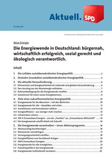 """Broschüre """"Die Energiewende in Deutschland"""" - SPD-Bezirk ..."""