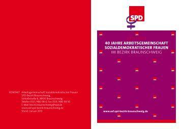 Broschüre 40 Jahre ASF - SPD-Bezirk Braunschweig